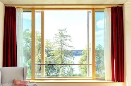 Blick aus dem Fenster im Sukhavati Bad Saarow